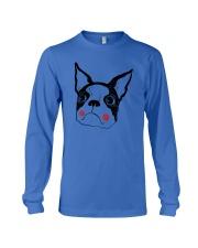 Cool Boston Terrier Face Shirt Long Sleeve Tee thumbnail