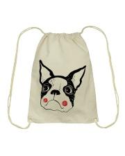 Cool Boston Terrier Face Shirt Drawstring Bag thumbnail