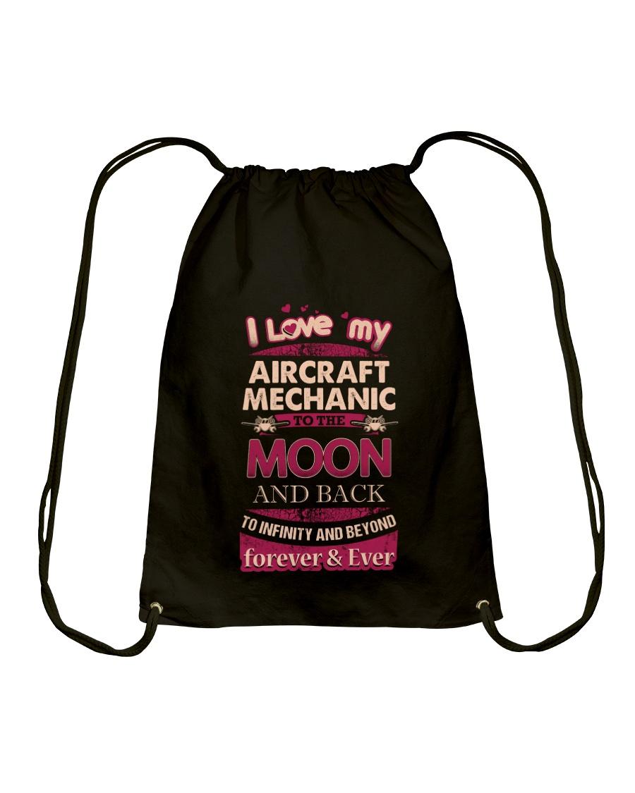 I love my Aircraft Mechanic to the Moon Drawstring Bag
