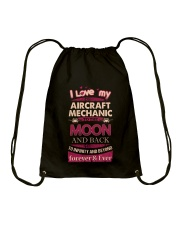 I love my Aircraft Mechanic to the Moon Drawstring Bag front