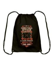 Crazy Correctional Officer Shirt Drawstring Bag thumbnail