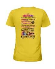 Awesome Mechanical Engineer Shirt Ladies T-Shirt back
