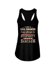 Sarcastic Civil Engineer Shirt Ladies Flowy Tank thumbnail