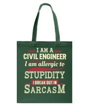 Sarcastic Civil Engineer Shirt Tote Bag thumbnail