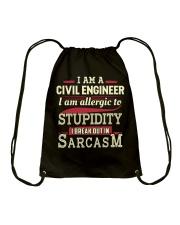 Sarcastic Civil Engineer Shirt Drawstring Bag thumbnail