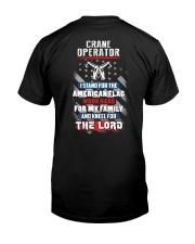 Proud Crane Operator Shirt Premium Fit Mens Tee back