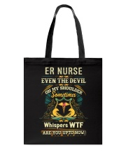Awesome ER Nurse Shirt Tote Bag thumbnail