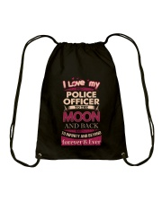 I love my Police Officer to the Moon Drawstring Bag thumbnail