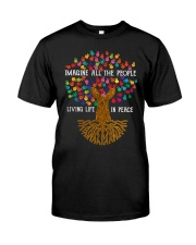 Imagine all the people living life in peace Premium Fit Mens Tee thumbnail