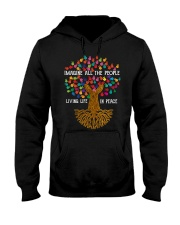 Imagine all the people living life in peace Hooded Sweatshirt thumbnail