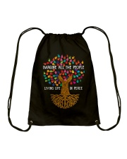 Imagine all the people living life in peace Drawstring Bag thumbnail