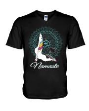 Namaste  V-Neck T-Shirt front