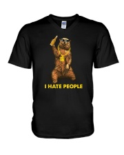 I Hate People V-Neck T-Shirt thumbnail