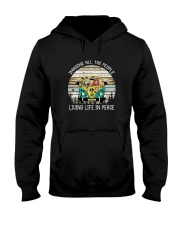 IMAGINE ALL THE PEOPLE LIVING LIFE IN PEACE Hooded Sweatshirt front