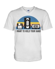 Hold Your Hand V-Neck T-Shirt thumbnail
