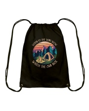 Listen to the wind blow watch the sun rise Drawstring Bag thumbnail
