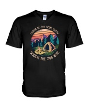 Listen to the wind blow watch the sun rise V-Neck T-Shirt thumbnail