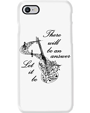 BLACK THERE WILL BE AN ANSWER Phone Case i-phone-7-case