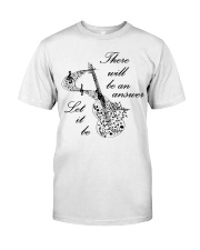 BLACK THERE WILL BE AN ANSWER Premium Fit Mens Tee thumbnail