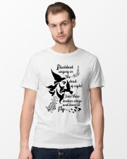 Blackbird singing in the dead of night Classic T-Shirt lifestyle-mens-crewneck-front-15