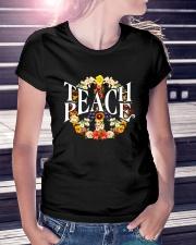 TEACH PEACE Premium Fit Ladies Tee lifestyle-women-crewneck-front-7
