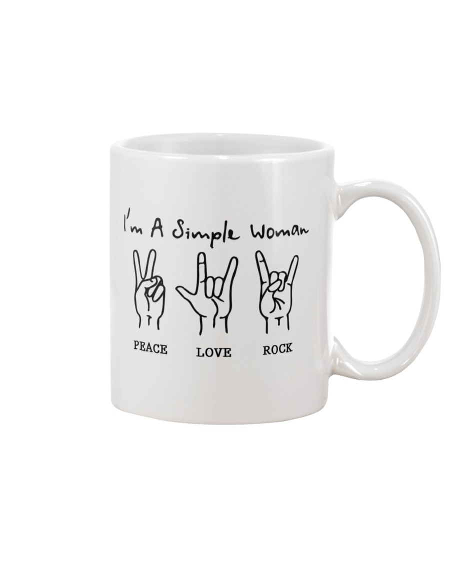PEACE LOVE ROCK Mug