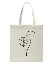 Let it out - Let it in Tote Bag tile