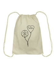 Let it out - Let it in Drawstring Bag thumbnail
