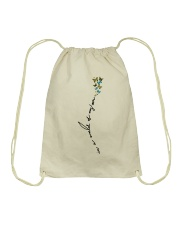 Hippie - In a world of my own Drawstring Bag thumbnail