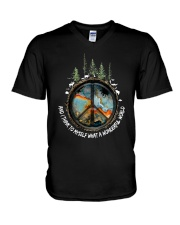 And Think To Myself What A Wonderful World Ad0007  V-Neck T-Shirt thumbnail