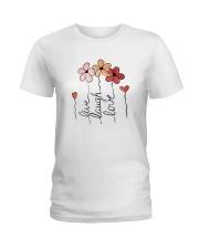 Live - Laugh - Love Ladies T-Shirt thumbnail