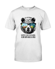Go Outside-Worst Case Scenario-A Bear Kills You Classic T-Shirt front