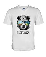 Go Outside-Worst Case Scenario-A Bear Kills You V-Neck T-Shirt thumbnail