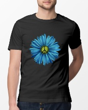 Hippie Peace Symbol With Flowers Classic T-Shirt lifestyle-mens-crewneck-front-13