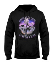 People Living Life In Peace Hooded Sweatshirt thumbnail