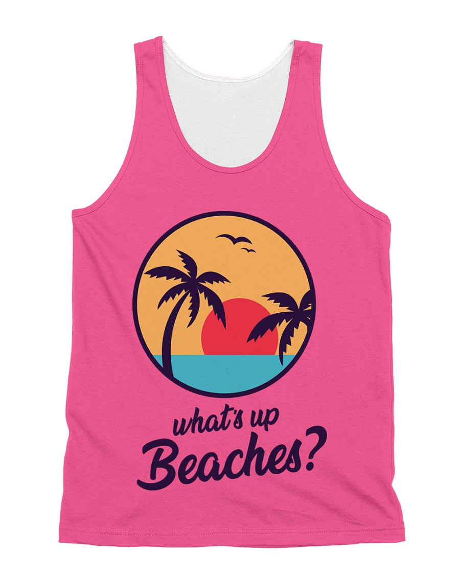 Whats Up Beaches Brooklyn 99 Nine Nine Tank Top All-over Unisex Tank