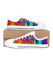 RAINBOW CANDY SPIRAL Men's Low Top White Shoes thumbnail