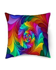 "RAINBOW CANDY SPIRAL Indoor Pillow - 16"" x 16"" thumbnail"
