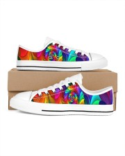 RAINBOW CANDY SPIRAL Women's Low Top White Shoes thumbnail