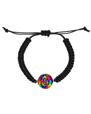 RAINBOW CANDY SPIRAL Cord Circle Bracelet tile