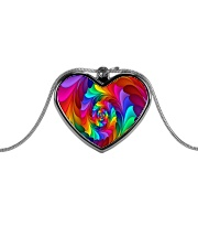RAINBOW CANDY SPIRAL Metallic Heart Necklace thumbnail