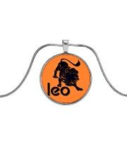 Leo Horoscope Metallic Circle Necklace thumbnail