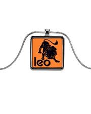 Leo Horoscope Metallic Rectangle Necklace thumbnail