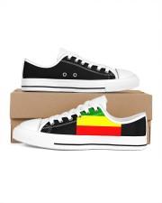 RASTA COLORS ONE LOVE Men's Low Top White Shoes thumbnail