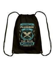 EVERYBODY IS A PLUMBER Drawstring Bag thumbnail