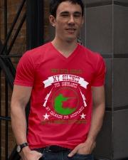 i am sniper gamer V-Neck T-Shirt lifestyle-mens-vneck-front-2