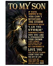 TO MY SON  24x36 Poster front