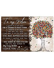 TO MY MUM FROM SON 36x24 Poster front