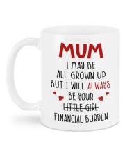 YOUR FINANCIAL BURDEN Mug back