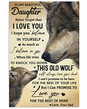 TO MY BEAUTIFUL DAUGHTER Vertical Poster tile